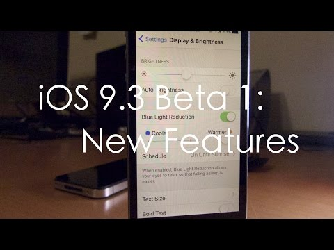 iOS 9.3 Beta 1: New Features