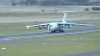 Russian IL-76 attempts to crash during takeoff