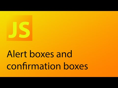 JavaScript Tutorial 30 - Alert boxes and confirmation boxes