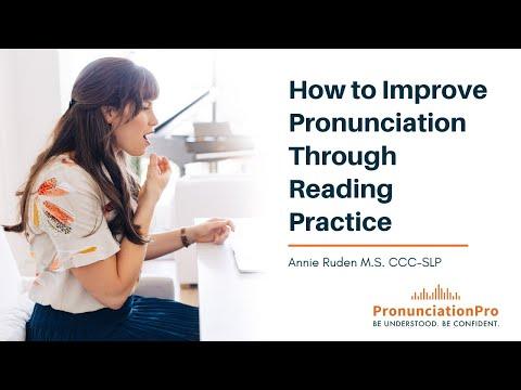 How to Improve Pronunciation through Reading Practice