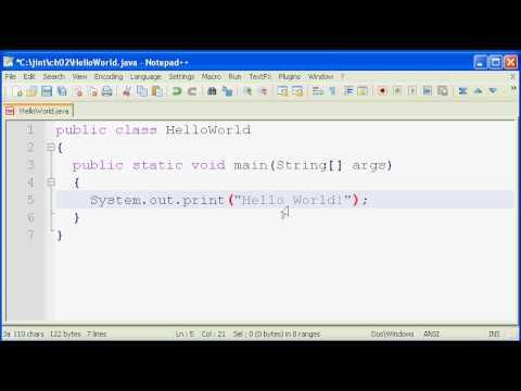 Java SE Tutorial 2 - Your First Java Program