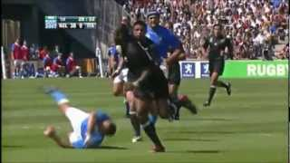 Great All Black team try at the 2007 World Cup