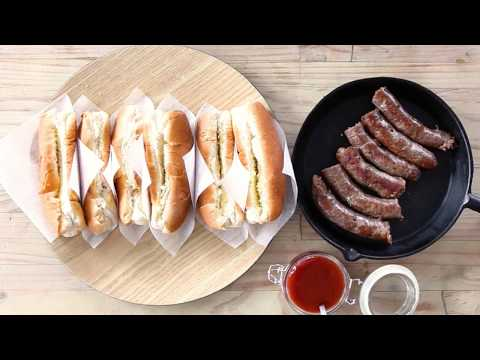 Boerewors rolls with Cola-Cola bbq sauce