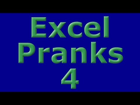 Excel Pranks 4 - Tidal Wave Data Disappear Trick