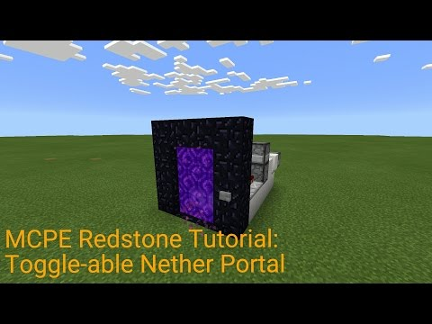 Minecraft Pocket Edition Redstone Tutorial: Toggle-able Nether Portal