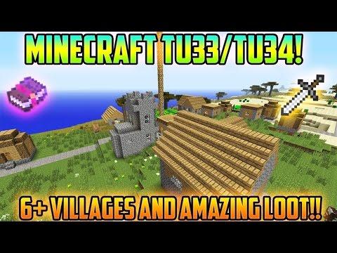 Minecraft PS3 & Xbox 360 - BEST MINECRAFT TU33/TU34 VILLAGES SEED! 6+ VILLAGES! - (PS4/Xbox One)