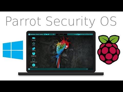 How to install Parrot Sec. os on Raspberry pi | Windows 10 | 2017