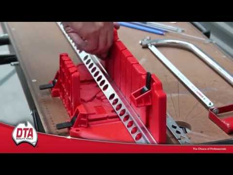 Universal Mitre Box for cutting tile trims and angles