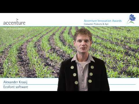 Accenture Innovation Awards 2011, Consumer Products & Agri, Ecofont software