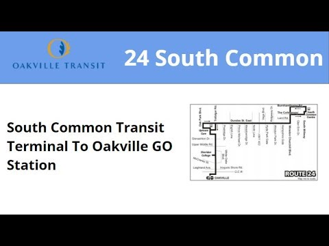 Oakville Transit 2013 NFI XD40 #1306 On 24 South Common (South Common Term To Oakville GO)