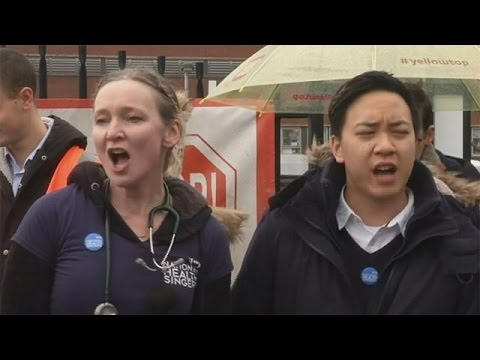 England's junior doctors in good voice during pay strike