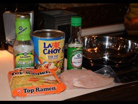 15 minute Ramen Noodle Stir Fry