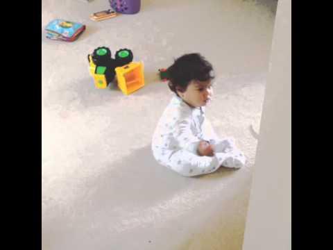 My ten month old having a mini tantrum!