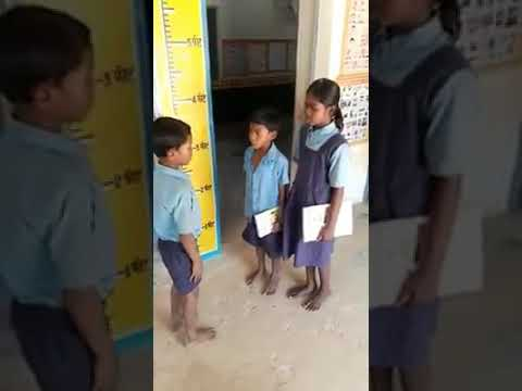 Childrens read English by Acting......