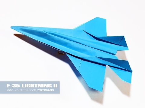 BEST PAPER JET FIGHTER - How to make a paper airplane that FLIES | F-35 Lightning II