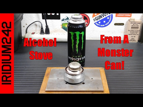 Make An Alcohol Stove From Monster Energy Drink Can