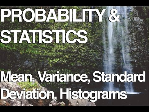 Sample Mean, Variance, Standard Deviation and Histograms