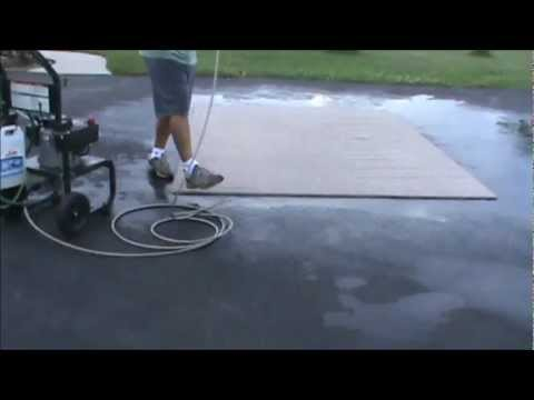 How to pressure wash a carpet