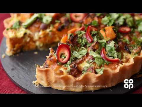 Co-op Food | Vegetarian Sweet Potato and Chilli Tart