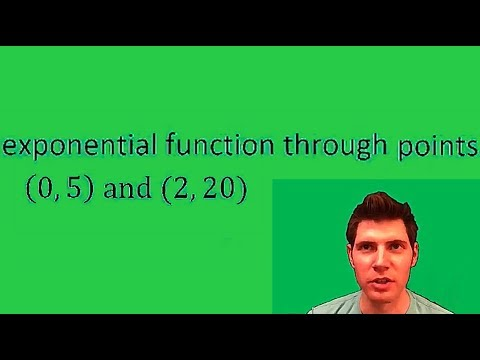 Exponential Function through 2 points