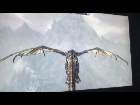Riding a Dragon in Skyrim Remastered