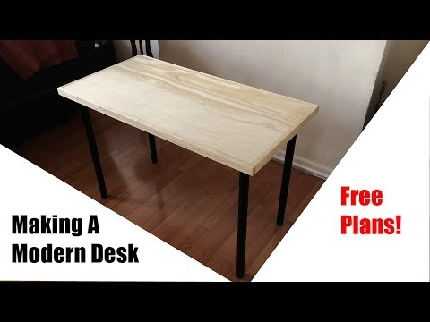 Making a Modern Desk | DIY | How-To | Simple