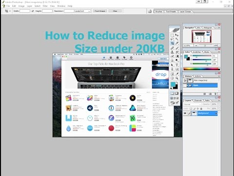 How to reduce the image size without any software