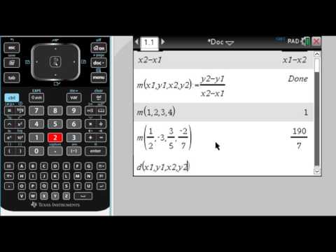 Defining Functions to Find Slope and Distance on the TI-Nspire