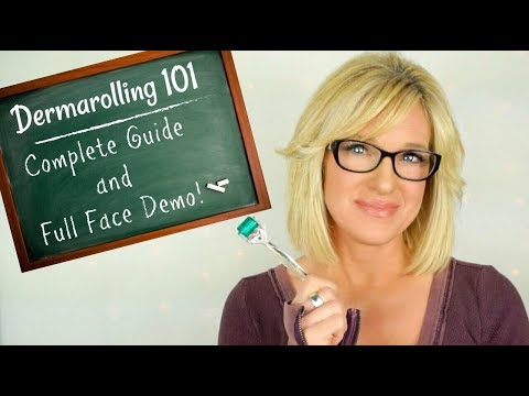 HOW TO DERMAROLL! FULL FACE Anti-Aging Dermarolling Routine!