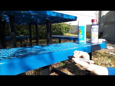 How to Remove Paint or Permanent Marker from Outdoor Furniture