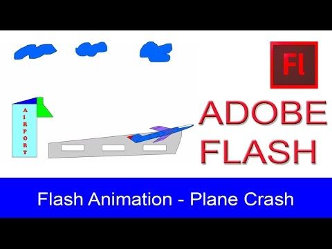 Flash Animation - Plane Crash In (Adobe Flash Professional)