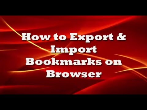 How to Import and Export Bookmarks in Google Chrome and Firefox | Bookmarks Transferring Process