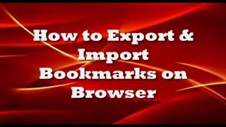 How To Import And Export Bookmarks In Google Chrome And Firefox Bookm