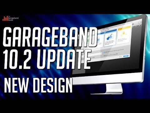 GarageBand 10.2 Update Part 1 - New Design