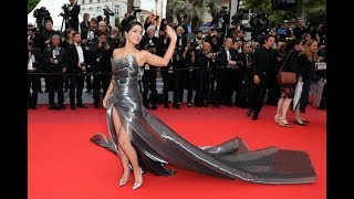 Cannes 2019: Hina Khan Looking Stunning in sheer off-shoulder tulle dress   Day 4
