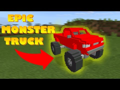 How to Spawn Monster Truck in Minecraft Pocket Edition ( Monster Truck Addon)