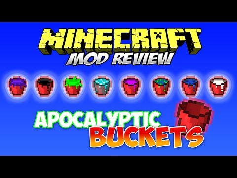 APOCALYPTIC BUCKETS MOD | ¡Libera el apocalipsis de cubos! | Minecraft 1.7.10