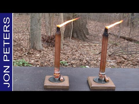 DIY Tabletop Tiki Torch, How to Make Candlestick Tiki Torch