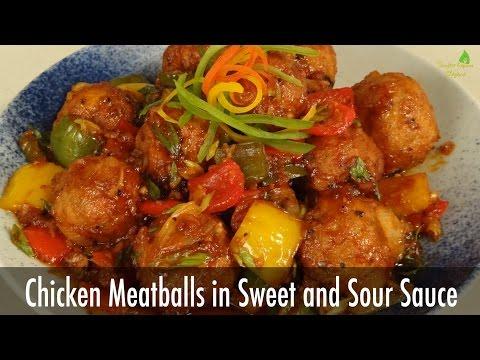 Chicken Meatballs in Sweet and Sour Sauce | Sanjeev Kapoor Khazana