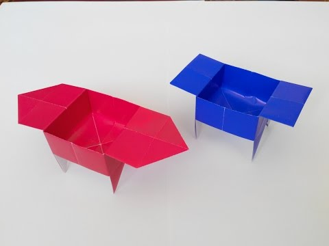 Коробочка на ножках оригами, Origami box on legs