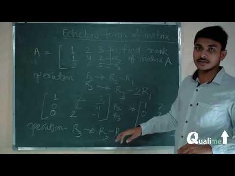 Echelon form of matrix (in Hindi)