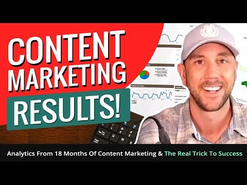 Content Marketing Results! Analytics From 18 Months Of Content Marketing & The Real Trick To Success