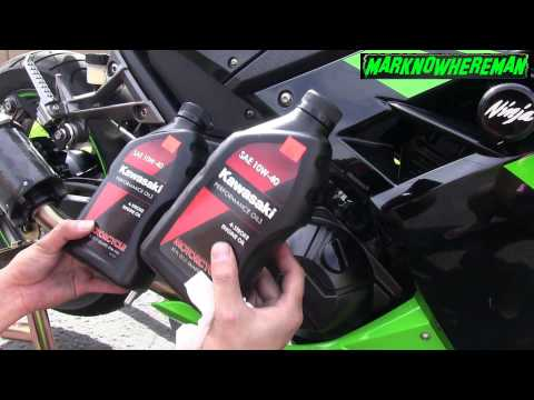 How to change the Oil & Filter of a Motorcycle? Kawasaki Ninja 300 SE