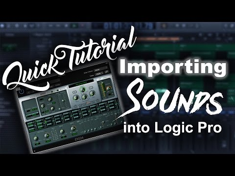 How to load Drum Kits/Sounds/Samples in Logic Pro X | Beat Maker Tutorial
