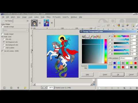 GIMP Tutorial 69  Color Picker Tool