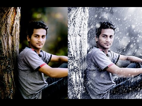 How to Create A Photo to Winter Snow Photograph | Photoshop Manipulation