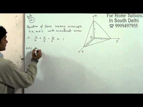 Prove that if a plane has the intercepts a, b, c and is at a distance of p units from the origin