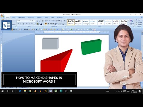 How to make 3d shapes in Microsoft Word   3d shapes in word   how to make 3d shapes
