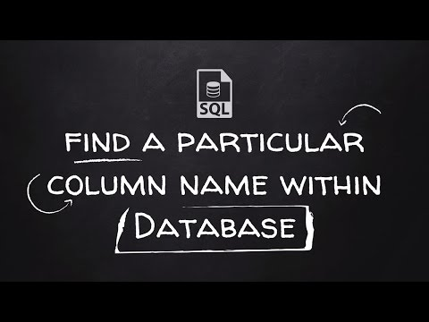 How to find a particular column name within all tables of SQL Database.