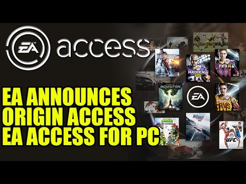 EA Announces Origin Access | EA Access For Windows PC